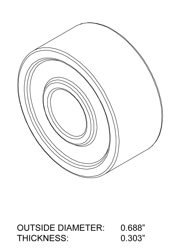 Bearing - Sealed Drawing