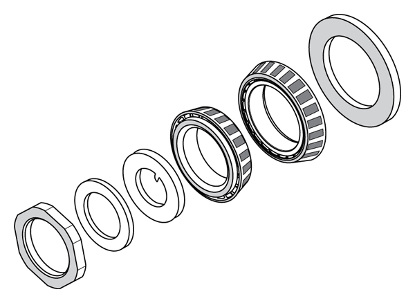 Bearing & Locknut Kit Drawing