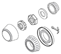 Lock Nut / Bearing / Seal kit, GM Metric Rotors Drawing