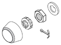 Locknut Kit for Wilwood Pro Spindles Drawing