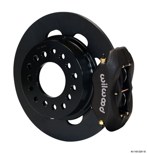 Wilwood Forged Dynalite Rear Drag Brake Kit - Black Anodize Caliper - Plain Face Rotor