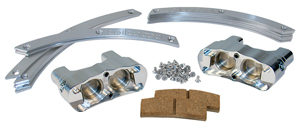 Wilwood Stealth Motorcycle Front Brake Kit - Polish Caliper - Plain Face Rotor