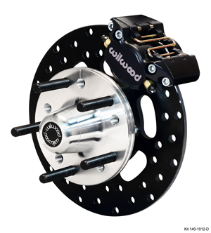 Wilwood Dynapro Single Front Drag Brake Kit - Black Anodize Caliper - Drilled Rotor