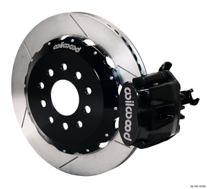 Wilwood Combination Parking Brake Caliper Rear Brake Kit - Black Powder Coat Caliper - GT Slotted Rotor