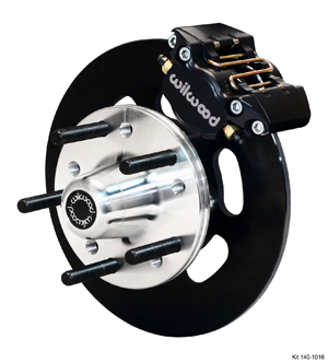 Wilwood Dynapro Single Front Drag Brake Kit - Type III Ano Caliper - Plain Face Rotor