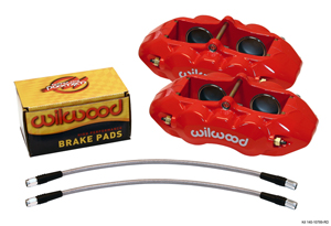 Wilwood D8-4 Front Replacement Caliper Kit - Red Powder Coat Caliper