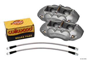 Wilwood D8-4 Front Replacement Caliper Kit - Clear Anodize Caliper