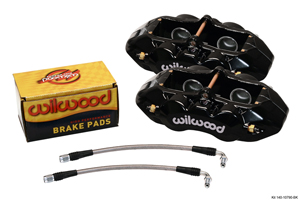 Wilwood D8-4 Rear Replacement Caliper Kit - Black Powder Coat Caliper