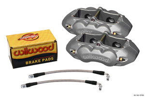 Wilwood D8-4 Rear Replacement Caliper Kit - Clear Anodize Caliper