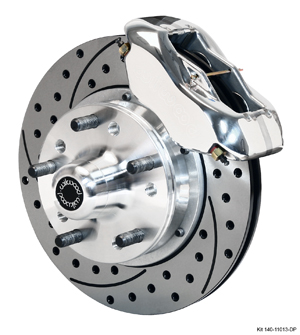 Wilwood Forged Dynalite Pro Series Front Brake Kit - Polish Caliper - SRP Drilled & Slotted Rotor