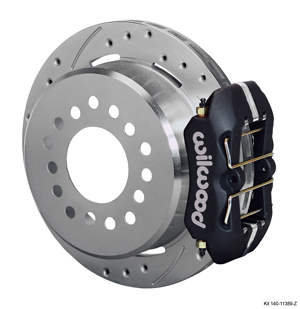 Wilwood Dynapro Low-Profile Rear Parking Brake Kit - Black Anodize Caliper - SRP Drilled & Slotted Rotor