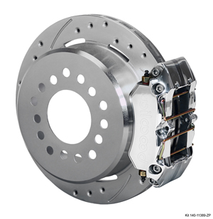 Wilwood Dynapro Low-Profile Rear Parking Brake Kit - Polish Caliper - SRP Drilled & Slotted Rotor