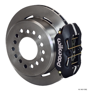 Wilwood Dynapro Low-Profile Rear Parking Brake Kit - Black Anodize Caliper - Plain Face Rotor