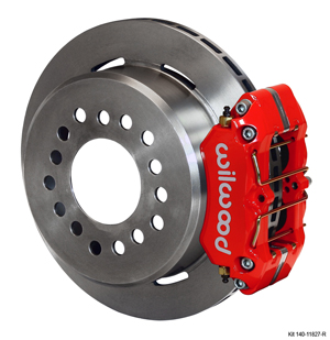 Wilwood Dynapro Low-Profile Rear Parking Brake Kit - Red Powder Coat Caliper - Plain Face Rotor