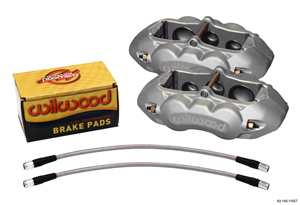 Wilwood D8-6 Front Replacement Caliper Kit - Clear Anodize Caliper