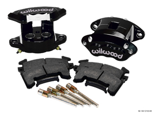 Wilwood D154 Rear Caliper Kit - Black Powder Coat Caliper