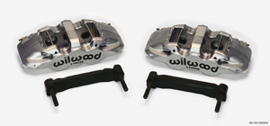 Wilwood AERO6 Front Caliper and Bracket Upgrade Kit for Corvette C5-C6 - Nickel Plate Caliper