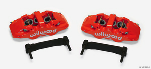 Wilwood AERO6 Front Caliper and Bracket Upgrade Kit for Corvette C5-C6 - Red Powder Coat Caliper