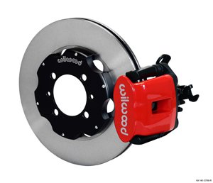 Wilwood Combination Parking Brake Caliper Rear Brake Kit - Plain Face Rotor