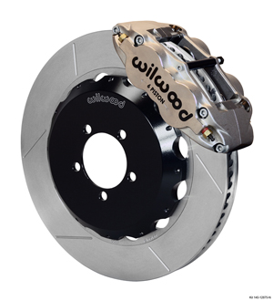 Wilwood Forged Narrow Superlite 6R Big Brake Front Brake Kit (Hat) - Nickel Plate Caliper - GT Slotted Rotor
