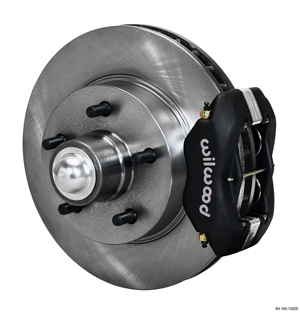 Wilwood Classic Series Dynalite Front Brake Kit - Black Anodize Caliper - Plain Face Rotor
