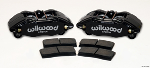 Wilwood Forged DPHA Front Caliper Kit - Black Powder Coat Caliper