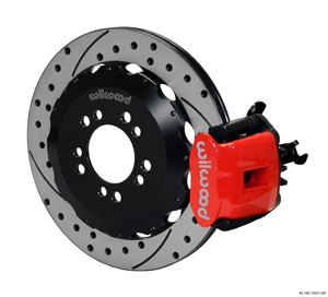 Wilwood Combination Parking Brake Caliper Rear Brake Kit - SRP Drilled & Slotted Rotor