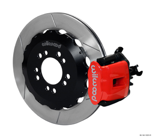 Wilwood Combination Parking Brake Caliper Rear Brake Kit - GT Slotted Rotor