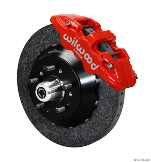 Wilwood AERO6 WCCB Carbon-Ceramic Big Brake Front Brake Kit - Red Powder Coat Caliper - Plain Face Rotor