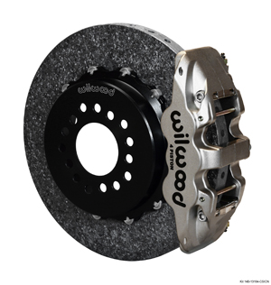 Wilwood AERO4 WCCB Carbon-Ceramic Big Brake Rear Parking Brake Kit - Nickel Plate Caliper - Plain Face Rotor