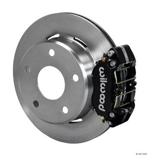Wilwood Dynapro Lug Mount Rear Parking Brake Kit - Black Powder Coat Caliper - Plain Face Rotor