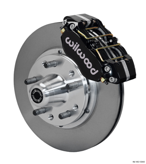 Wilwood Dynapro Dust-Boot Pro Series Front Brake Kit - Black Powder Coat Caliper - Plain Face Rotor