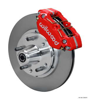 Wilwood Dynapro Dust-Boot Pro Series Front Brake Kit - Red Powder Coat Caliper - Plain Face Rotor