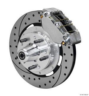 Wilwood Dynapro Dust-Boot Big Brake Front Brake Kit (Hub) - Polish Caliper - SRP Drilled & Slotted Rotor
