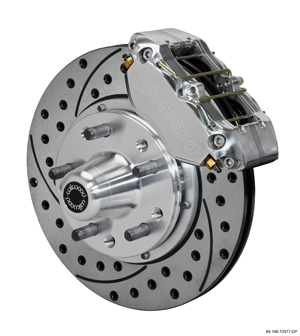 Wilwood Dynapro Dust-Boot Pro Series Front Brake Kit - Polish Caliper - SRP Drilled & Slotted Rotor