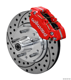 Wilwood Dynapro Dust-Boot Pro Series Front Brake Kit - Red Powder Coat Caliper - SRP Drilled & Slotted Rotor