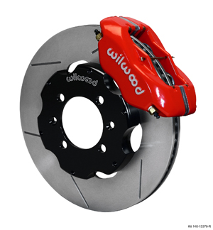 Wilwood Forged Dynalite Big Brake Front Brake Kit (Hat) - Red Powder Coat Caliper - GT Slotted Rotor