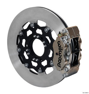 Wilwood Billet Narrow Dynalite Radial Mount Sprint Inboard Brake Kit - Nickel Plate Caliper - Plain Face Rotor