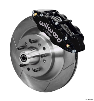 Wilwood Forged Narrow Superlite 6R Big Brake Front Brake Kit (Hub and 1PC Rotor) - Black Powder Coat Caliper - GT Slotted Rotor