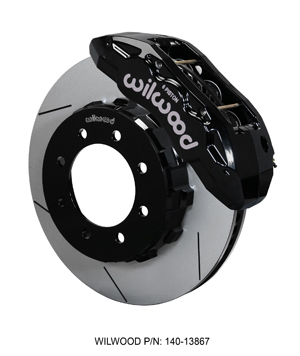 Wilwood TX6R Big Brake Truck Front Brake Kit - Black Powder Coat Caliper - GT Slotted Rotor