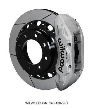Wilwood TX6R Big Brake Truck Rear Brake Kit - Clear Anodize Caliper - GT Slotted Rotor