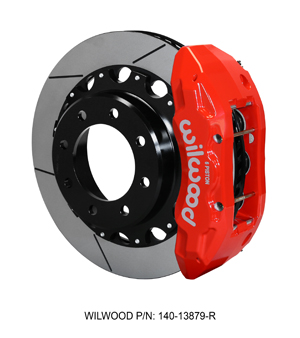 Wilwood TX6R Big Brake Truck Rear Brake Kit - Red Powder Coat Caliper - GT Slotted Rotor