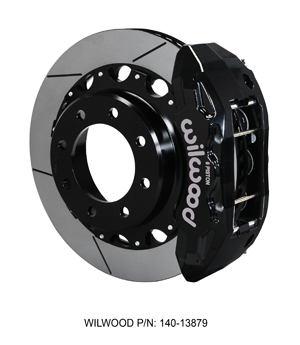 Wilwood TX6R Big Brake Truck Rear Brake Kit - Black Powder Coat Caliper - GT Slotted Rotor