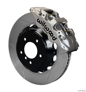 Wilwood AERO6 Big Brake Front Brake Kit - Nickel Plate Caliper - GT Slotted Rotor