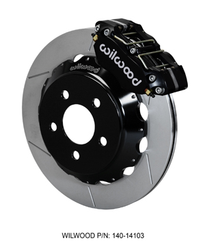 Wilwood Dynapro Radial Front Drag Brake Kit - Black Anodize Caliper - GT Slotted Rotor