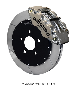 Wilwood Forged Superlite 4R Big Brake Front Brake Kit (Race) - Nickel Plate Caliper - GT Slotted Rotor