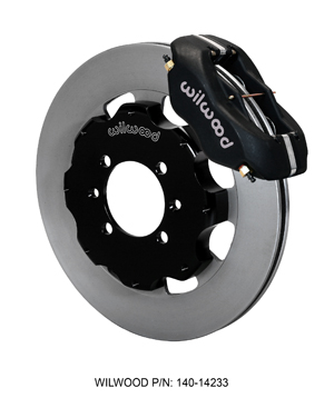 Wilwood Forged Dynalite Big Brake Front Brake Kit (Hat) - Black Anodize Caliper - Plain Face Rotor