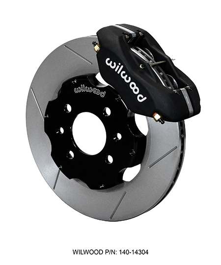 Wilwood Forged Dynalite Big Brake Front Brake Kit (Race) - Black Anodize Caliper - GT Slotted Rotor