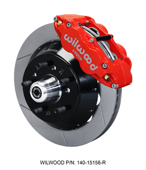 "Wilwood Forged Narrow Superlite 6R Big Brake Front Brake Kit (5 x 5.00"" Hub) - Red Powder Coat Caliper - GT Slotted Rotor"
