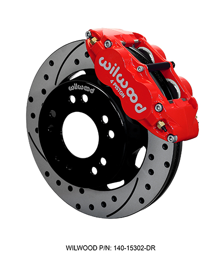 Wilwood Forged Narrow Superlite 4R Big Brake Front Brake Kit (Hat) - Red Powder Coat Caliper